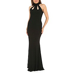 Amaya - Black fishtail maxi dress