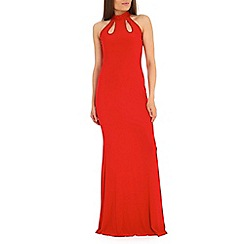 Amaya - Red fishtail maxi dress
