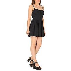 Madam Rage - Black lurex skater dress