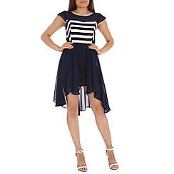 Tenki - Blue two tone  dip dress