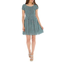 Tenki - Green polka dot tie back dress
