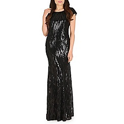 RubyRay - Black sequined maxi dress
