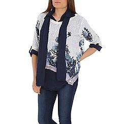 Amaya - Navy floral print tunic