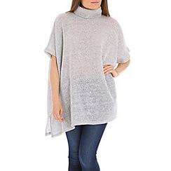 Voulez Vous - Grey turtle neck oversized top