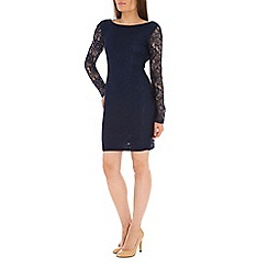 Izabel London - Navy floral lace midi dress