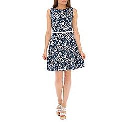 Izabel London - Blue floral tapestry print dress