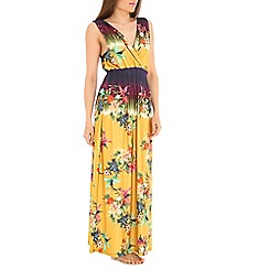 Indulgence - Mustard printed maxi dress