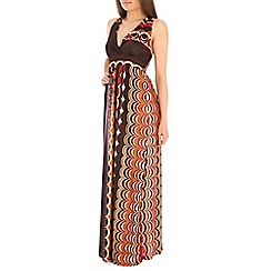 Indulgence - Black printed maxi dress
