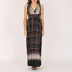 Indulgence - Navy printed maxi dress