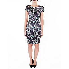 Wolf & Whistle - Multicoloured mexican floral satin tailored dress
