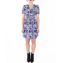 Wolf & Whistle - Blue blossom print tea dress