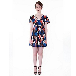 Wolf & Whistle - Multicoloured winter floral dress