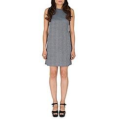 Mandi - Blue high neck bodycon dress