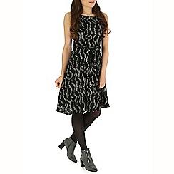 Izabel London - Black multi coloured dress