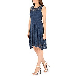 Izabel London - Navy lace overlay dress