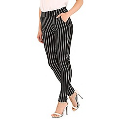Izabel London - Black stripe pants