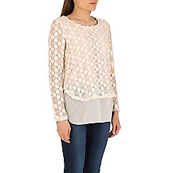 Izabel London - Cream layered top