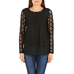 Izabel London - Black layered top