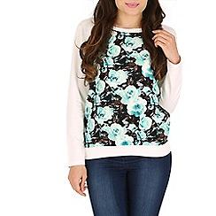 Mandi - White floral sweatshirt