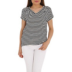 Ballentina - Navy tee with yarn dye stipes