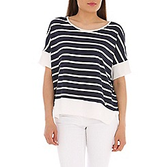 Ballentina - Navy nautical striped tee