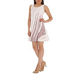 Ballentina - Multicoloured wave dress with peplum hem