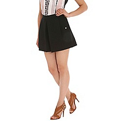 Ballentina - Black pleated front ponte shorts