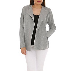 Ballentina - Grey bonded jacket with inverted collar