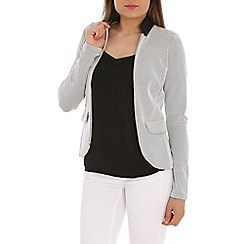 Ballentina - Cream double face knit blazer