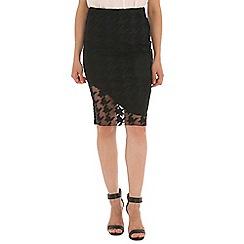 Ballentina - Black lace pencil skirt