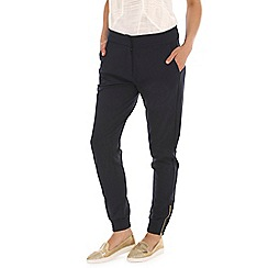Ballentina - Navy ankle zip cargo trouser