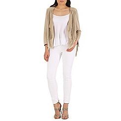 Mela - Beige fringe jacket