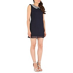 Mela - Navy rakhi beaded dress