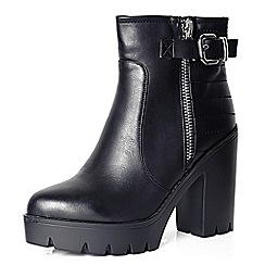 Alice & You - Black chunky heel ankle boot
