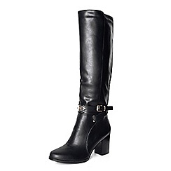 Alice & You - Black patent knee high boot
