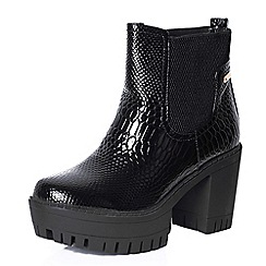 Alice & You - Black contrast platform boot