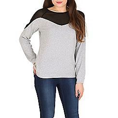 Madam Rage - Grey chiffon knit jumper