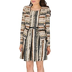 Izabel London - Natural snake print jacket