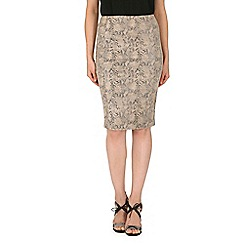 Izabel London - Natural fish cut skirt