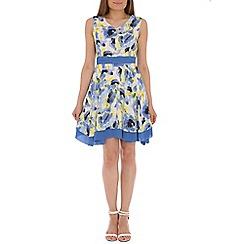 Tenki - Blue floral print dress