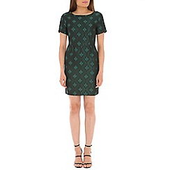 Tenki - Green jacquard dress