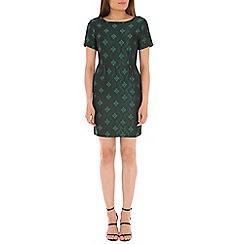 Tenki - Green jacquard dress