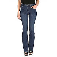 Mr Freedom - Blue christie flare mid rise jeans