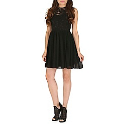 Mela - Black lace detail dress