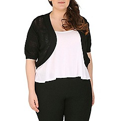 Samya - Black short sleeve knitted cardigan
