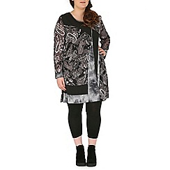 Samya - Multicoloured long sleeve pasiley print tunic top