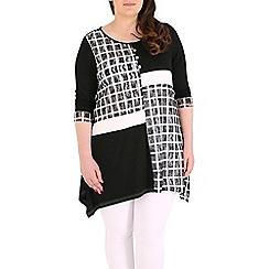 Samya - Multicoloured 3/4 sleeve check printed top