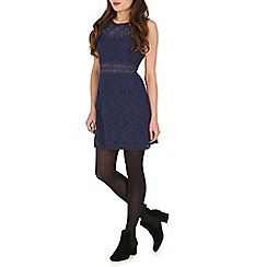 Mandi - Navy lace finished dress