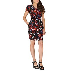 Poppy Lux - Black tarsha floral tulip shift dress