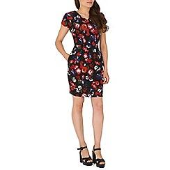 Poppy Lux - Black tarsha floral tulip shift dress